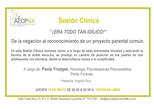 SESIÓN CLÍNICA 10-5-18. PAULA YRUEGAS