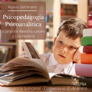 Seminario Psicopedagogía Psicoanalitica